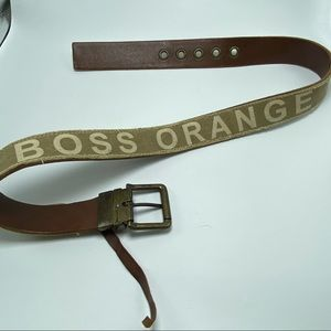 Hugo Boss belt leather/canvas made in Italy